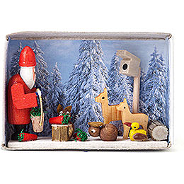 Matchbox  -  Christmas in the Winter Forest  -  4cm / 1.6 inch