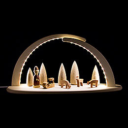 Modern Light Arch with LED  -  Christmas  -  42x21cm / 16.5x8.3 inch