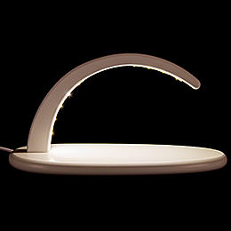 Modern Light Arch  -  without Figurines  -  white  -  24x13cm / 9.4x5.1 inch