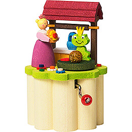 Music Box with Crank  -  Frog King  -  8,5cm / 3.3 inch