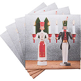 """Napkins """"Ore Mountain Tradition"""" Angel and Miner  -  20 pcs."""