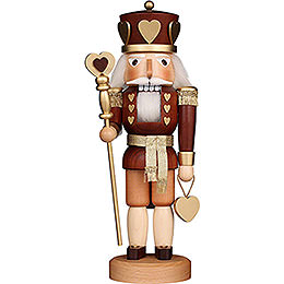 Nutcracker  -  Heart King Natural  -  37,5cm / 14.8 inch