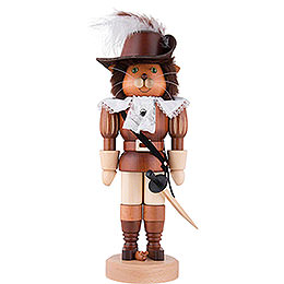 Nutcracker  -  Puss in Boots Natural Wood  -  37,5cm / 15 inch