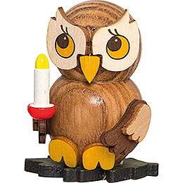 Owl Child with Candle  -  4cm / 1.6 inch