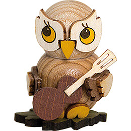 Owl Child with Guitar  -  4cm / 1.6 inch