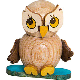 Owl Child with Snowboard  -  4cm / 1.6 inch