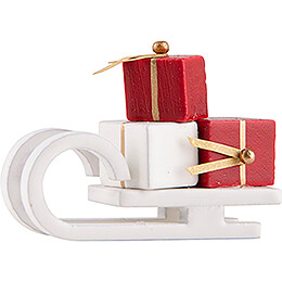 Sleigh with Presents  -  white  -  Edition Flade & Friends  -  2,5cm / 1 inch