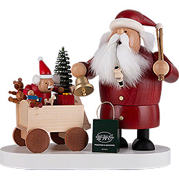 Smoker  -  Santa with Child  -  21cm / 8.3 inch