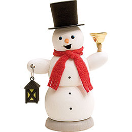 Smoker  -  Snowman with Lantern and Bell  -  13cm / 5.1 inch