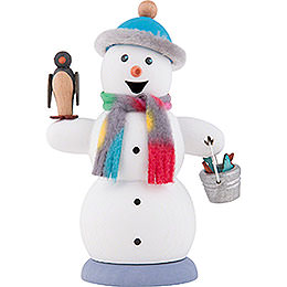 Smoker  -  Snowman with Penguin  -  13cm / 5.1 inch
