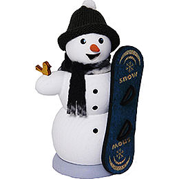 Smoker  -  Snowman with Snowboard  -  13cm / 5.1 inch
