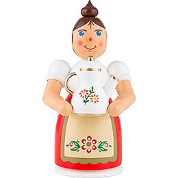 Smoker  -  Woman with Apron and Pot  -  17cm / 6.7 inch