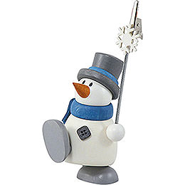 Snow Man Otto with Sign Holder  -  8cm / 3.1 inch