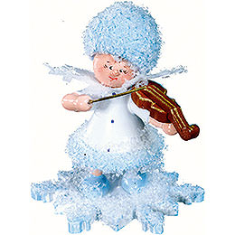 Snowflake with Violin  -  5cm / 2 inch
