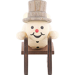 Snowman Luge Athlete without Base  -  8cm / 3.1 inch