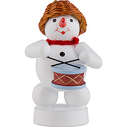 Snowman Musician with Drums  -  8cm / 3 inch