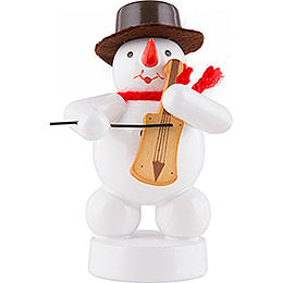 Snowman  -  Musician with Fiddle  -  8cm / 3.1 inch