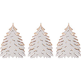 Snowy Trees for Candle Arch Lamps  -  3 pcs.  -  5,5x5cm / 2.2x2 inch