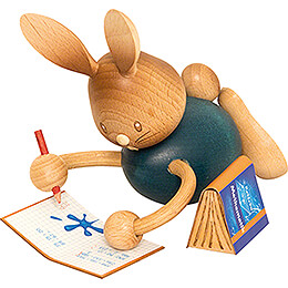 Snubby Bunny Home Schooling with Exercise Book  -  12cm / 4.7 inch