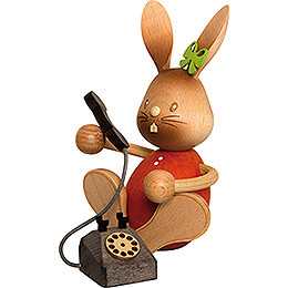 Snubby Bunny with Telephone  -  12,5cm / 4.9 inch