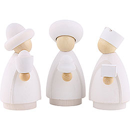 The Three Wise Men White/Natural  -  Small  -  7cm / 2.8 inch