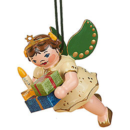 Tree Ornament  -  Angel with Gifts  -  6cm / 2,5 inch