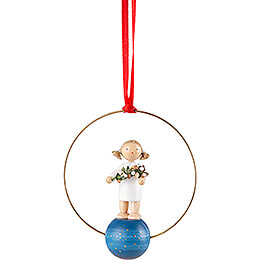 Tree Ornament  -  Angel with Mistletoe  -  7cm / 2.8 inch