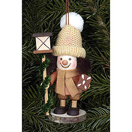 Tree Ornament  -  Lanternman Natural  -  11,5cm / 5 inch