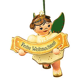 Tree Ornament  -  Merry Christmas Angel  -  6cm / 2,5 inch