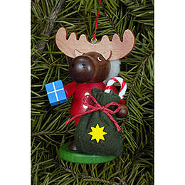 Tree Ornament  -  Moose Santa  -  9,5cm / 4 inch