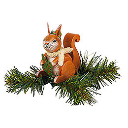 Tree Ornament  -  Tree Clip Squirrel  -  7,5cm / 3 inch