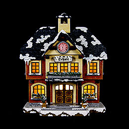 Winter Children School Illuminated  -  15cm / 6 inch